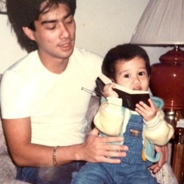 An old photo my god sister Sam Valenciano found while digging through her dad's photos.